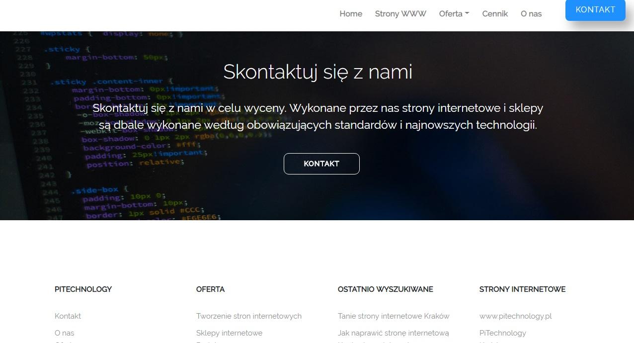 b3a721a3c4239 Tworzenie stron internetowych. Strony internetowe Kraków ...
